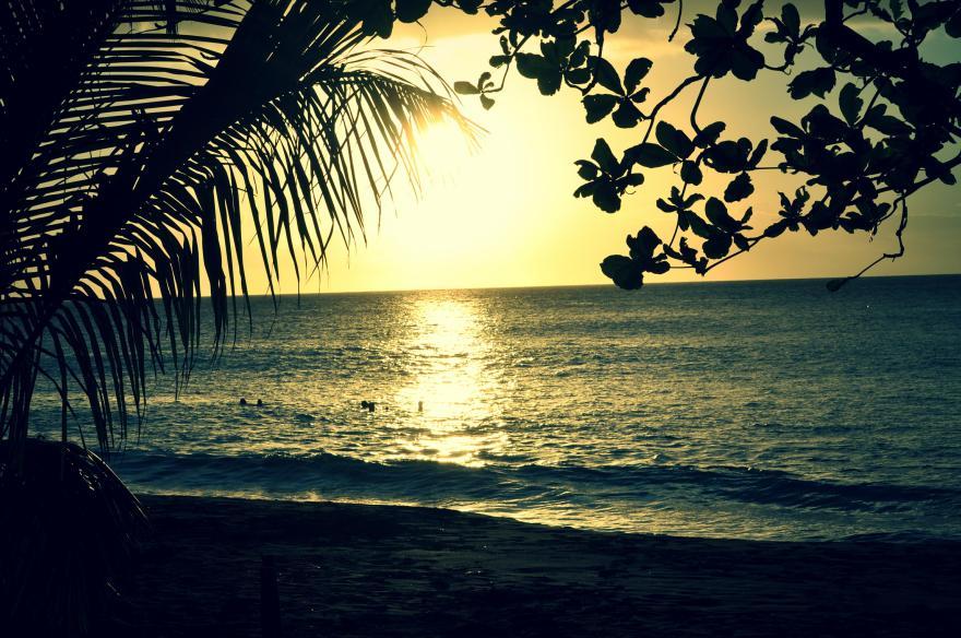 coucher de soleil anse céron