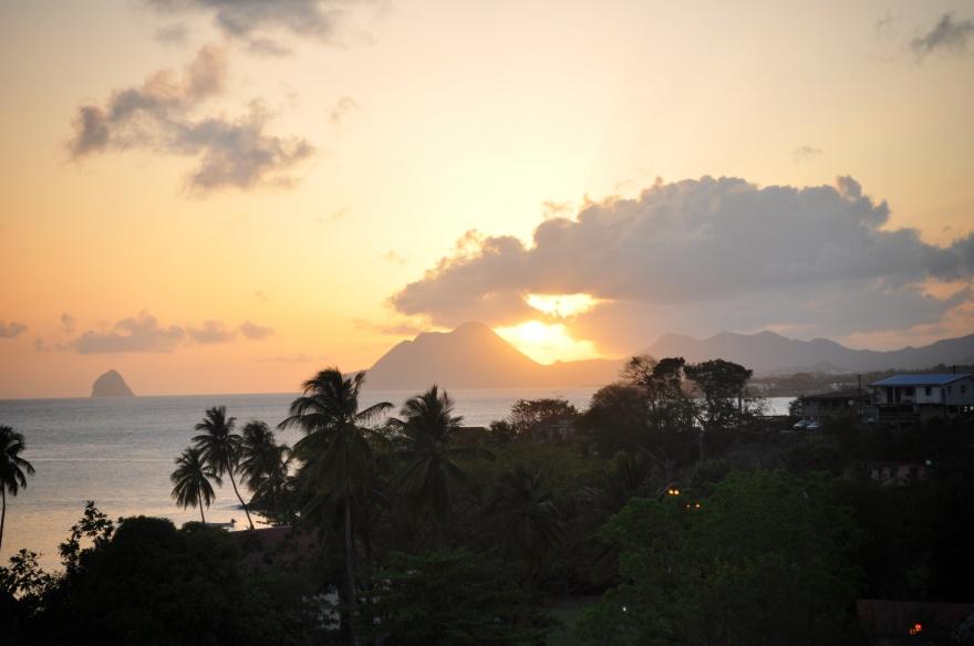 coucher de soleil, morne larcher