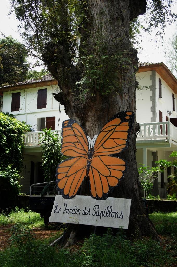 Pancarte jardin aux papillons