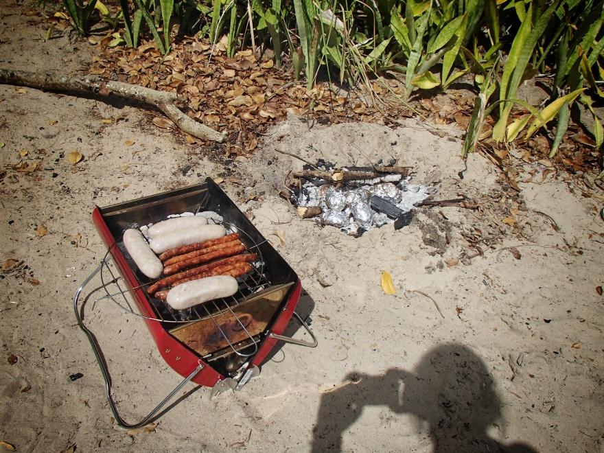 barbec' saucisse et patates